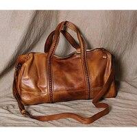 Модная кожаная дорожная сумка через плечо, большая спортивная сумка для выходных, высокое качество, женская сумка из натуральной кожи, дело