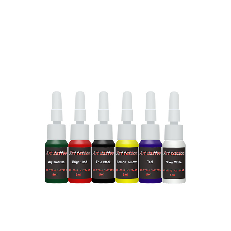 Free Shipping Tattoo Ink 6 PACK Primary Color Set 0 16oz 5ml Bottles Tattoo Pigment