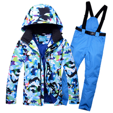Super Warm Men Ski Suit Waterproof Breathable Windproof Outdoor Sport Wear Skiing Snowboard Jacket+Pant 2018 New Style 2018 new men winter clothing ski jacket windproof waterproof outdoor sport wear camping riding skiing super warm high quality