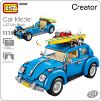 LOZ 1114 Mini Blocks Technic Mini City Car Model Building Bricks Vehicle Racing Car Assembly Toys For Children