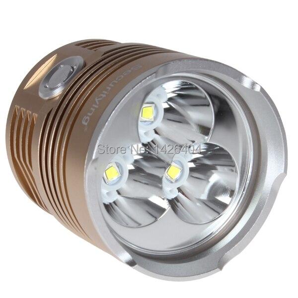 3600LM 3x XM-L2 LED Flashlight Torch 3 Modes 18650 LED Flash Light - Sturdy & Aluminum Waterproof nitecore tm06s palmtop monster waterproof 4000lm 5 modes 4 x xm l2 u3 led light lamp flashlight 18650 torch holster o ring