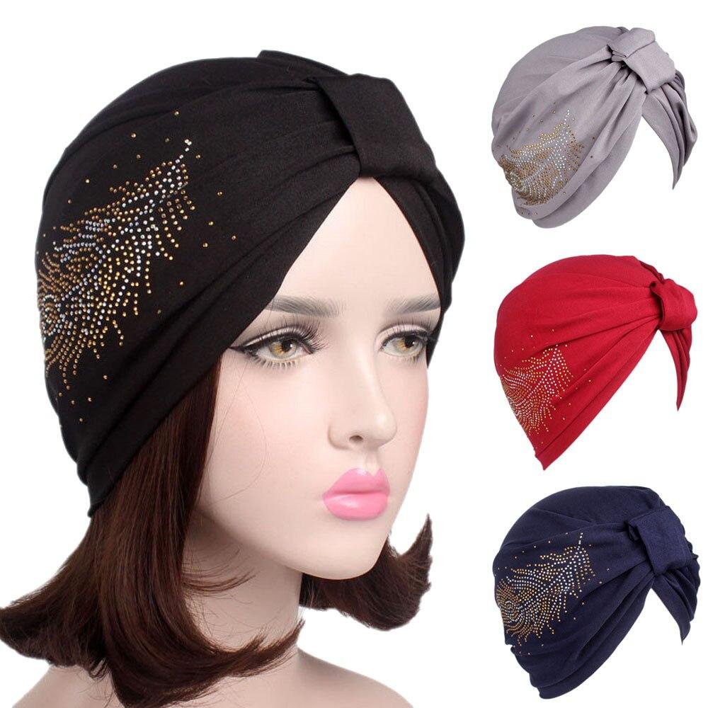 c706706e7e7 Women Boho Cancer Hat Beanie Scarf Turban Head Wrap Cap winter girl Casual  Elastic Cotton Skullies   Beanies-in Skullies   Beanies from Apparel  Accessories ...