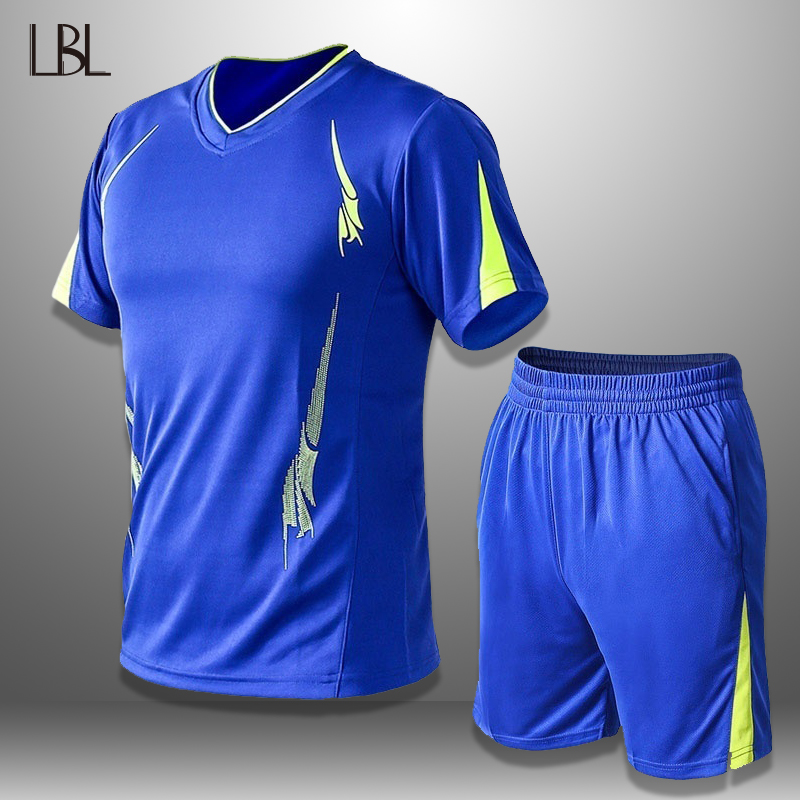 LBL Summer Set Men Sportswear Tshirts Shorts Two Piece Sets Basketball Mens Short Sleeve Tracksuit Male Breathable Quick Drying