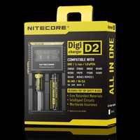 Topsale NITECORE D2 Digicharger Crystalline จอแสดงผล LCD Universal ULTRA ใช้งานร่วมกับ IMR Li - Ion Ni - Mh Ni - Cd Power Adapter