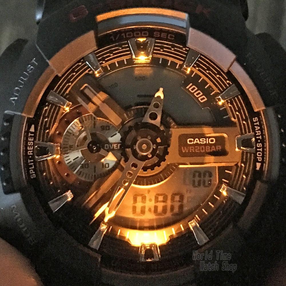 0423e8ee07ed Reloj Casio G SHOCK de los hombres de cuarzo reloj deportivo de gran Dial  impermeable al aire libre multifunción g shock reloj GA 110 en Relojes  deportivos ...