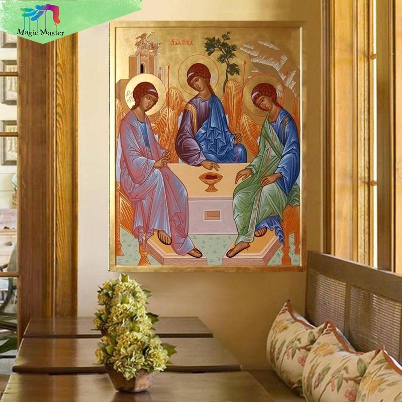 5D Diy Diamond Malování Mosaic Náboženství Rodina Fotografie Kamínky Cross Stitch Home Decor Diamond Výšivka Ikony PC456