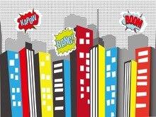 Bomba Da Cidade Edifício Alto com Legal Nuvem Fundos Vinil recém-nascidos backdrop Computador impresso pano de Alta qualidade