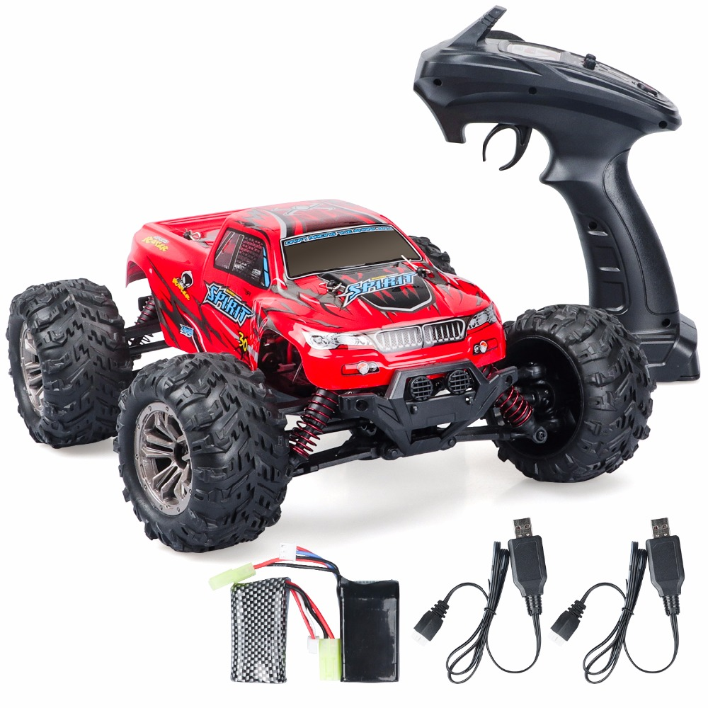 RC Car Road Remote Control Car Red RC Car 4wd WLtoys Electric with 1:18 Scale RC Monster Truck 2.4Ghz 4WD High Speed Racing Car new arrival rc car wltoys a979 1 18 2 4gh 4wd monster with high speed race toy car remote control truck trailer ready to go