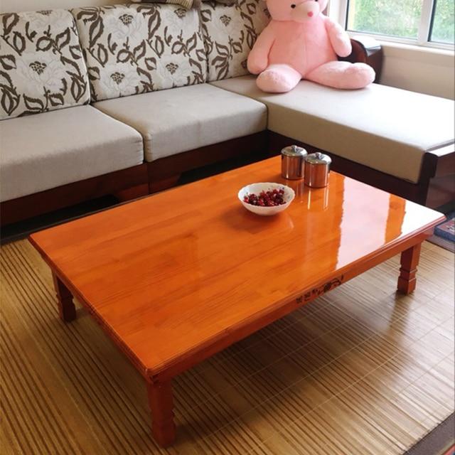 Wood Furniture Korean Dining Table Folding Leg Rectangle 90/80CM Home  Furniture Asian Antique Floor