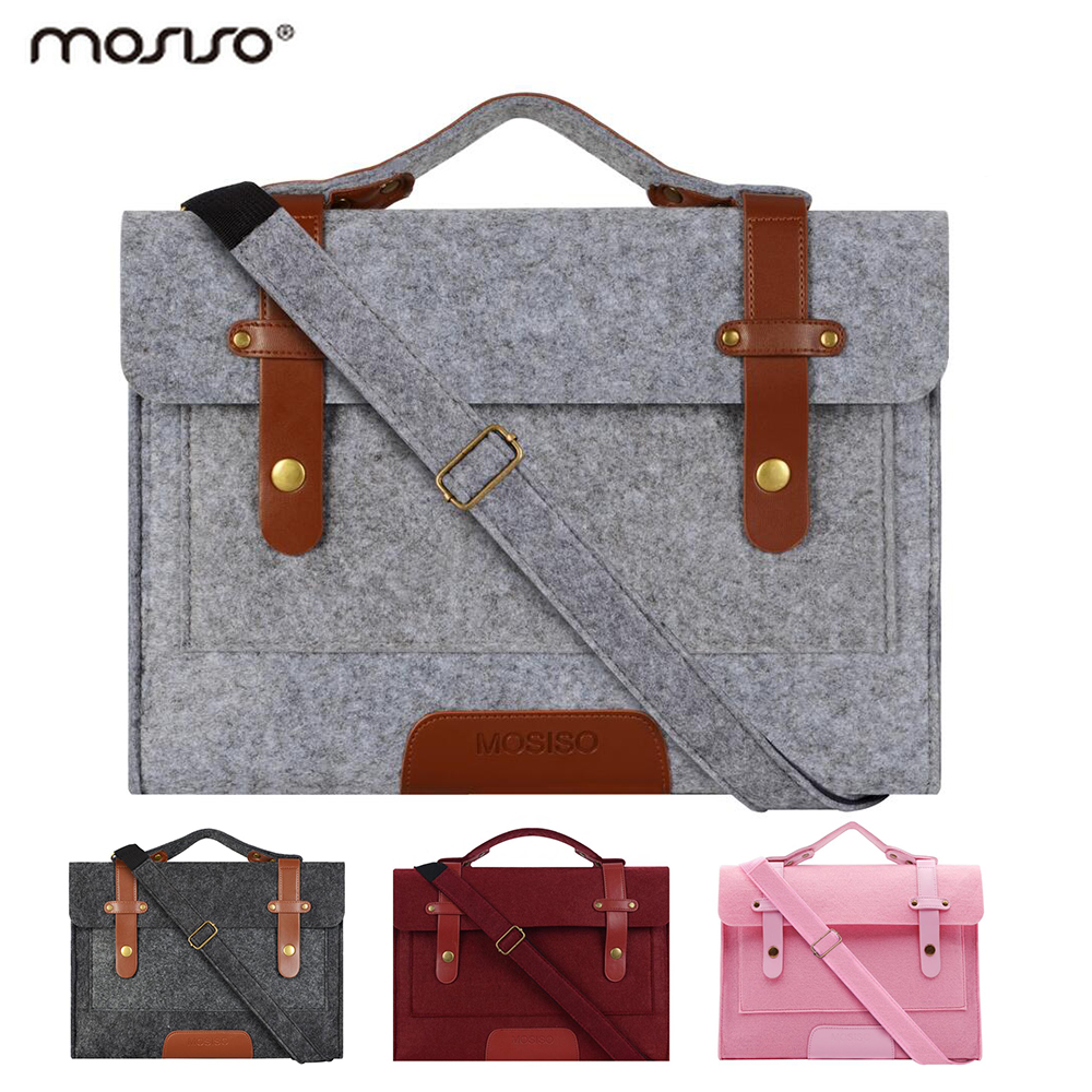 Mosiso Women Men Fashion 13.3 15.6 inch Felt Bag Notebook Carry Case for Macbook Air Pro 13 15 inch ACER HP DELL ASUS 2018