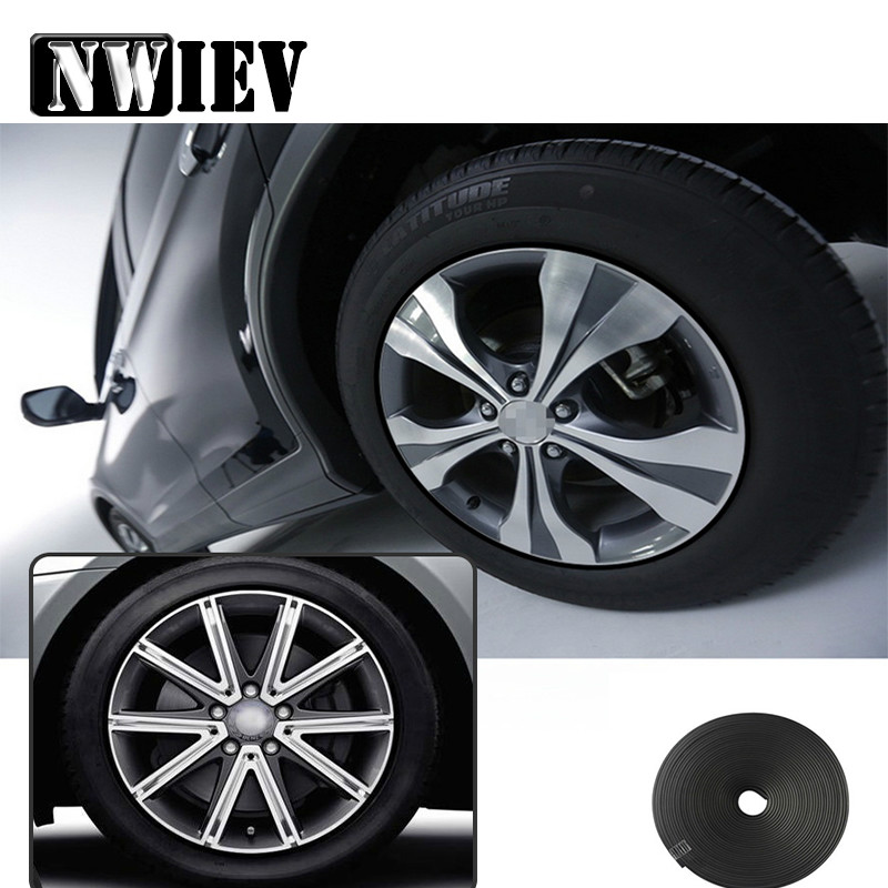 Nwiev 8m Car Wheels Rims Protector Stickers For Mazda 3 Volkswagen