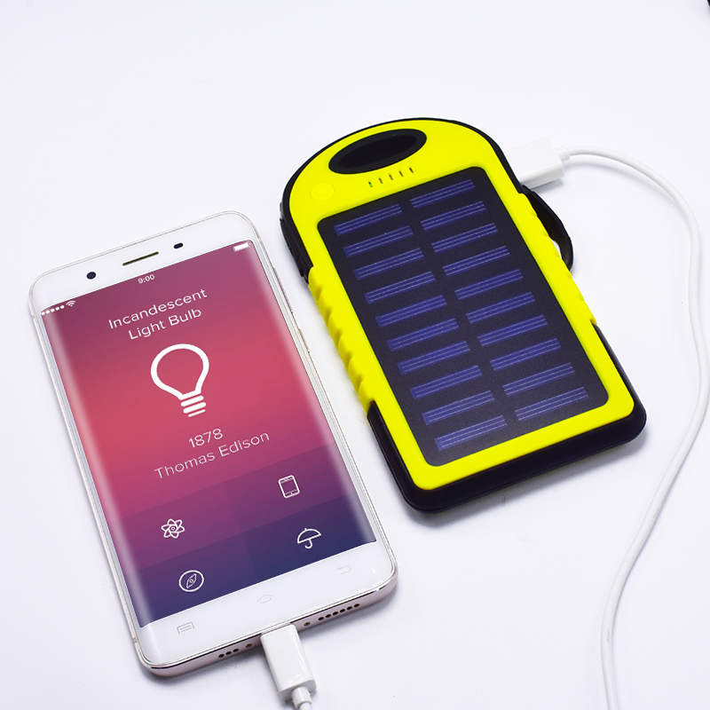 2018 Panel Wasserdichte Solar power bank 10000 mah Tragbare Ladegerät Reise Batterie power für xiaomi iphone 5 S 6 7 8 sumsang