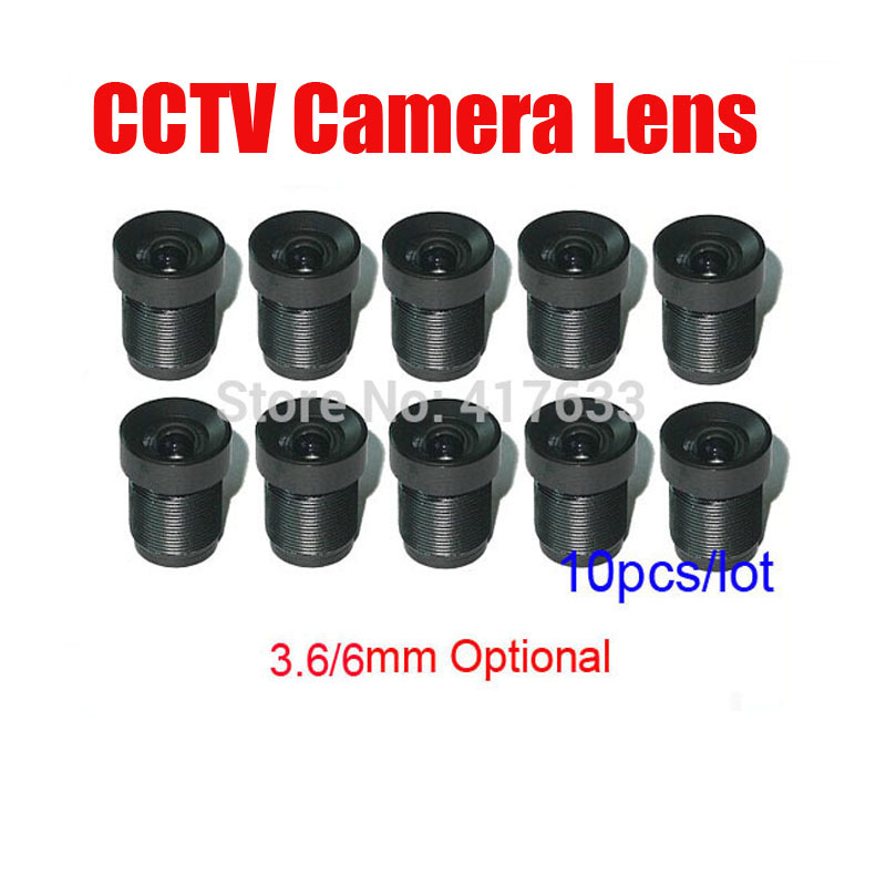 10pcs/Lot CCTV Camera Board Lens 3.6mm 6mm Fixed Iris M12 Mount Wholesale For CCTV Analog / IP Camera Free Shipping m12 3 7mm cctv lens for cctv security camera f2 0 fixed iris m12x0 5 mount