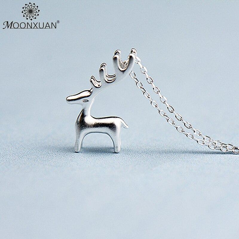 925 Sterling Silver Fashion Solid Elk Collares Colgantes Cadenas de - Joyas - foto 4