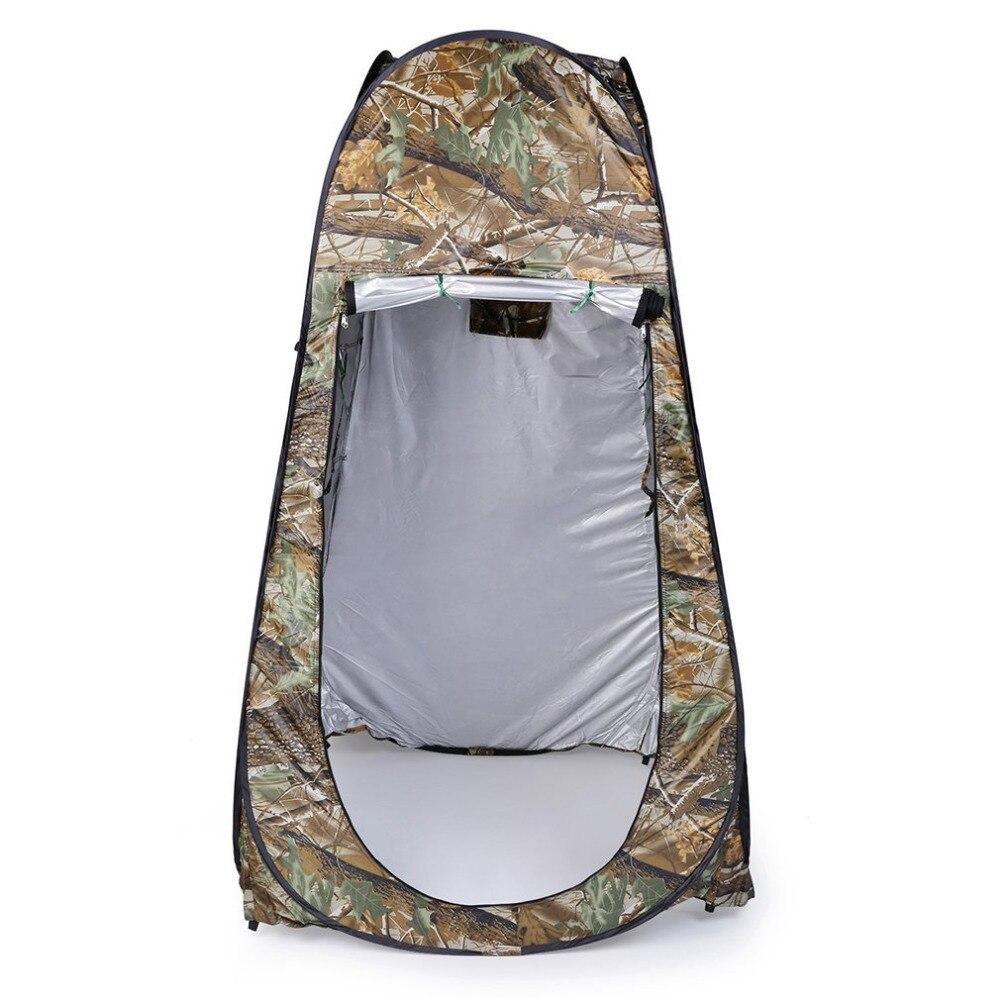 Pop up barraca de camuflagem ao ar livre 180 t acampamento chuveiro do banheiro privacidade wc mudando quarto abrigo único movimento tendas dobráveis