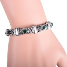 New Boho Vintage Stretch Bracelets & Bangles for Women Bohemian Antique Silver Bijoux Femme Adjustable Small Cuff Bracelet(China)