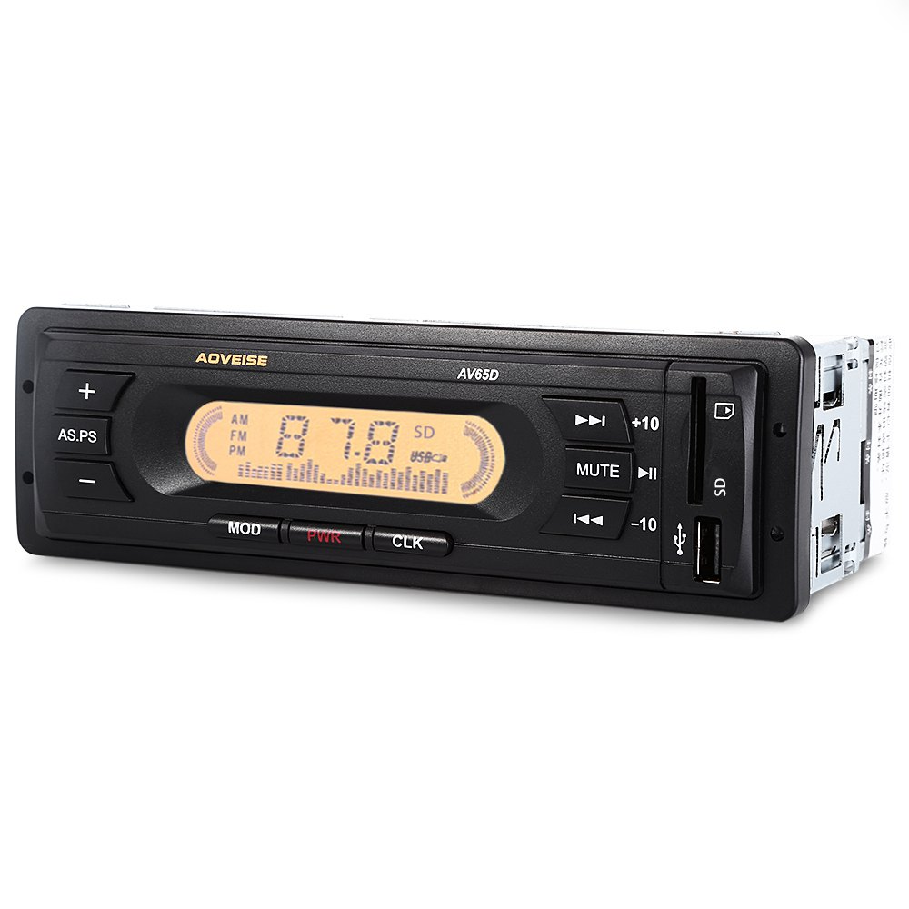 12V Car Audio Stereo Radio USB SD MP3 Multimedia Player LCD Display Screen High-definition FM Audio Automatic Scanning