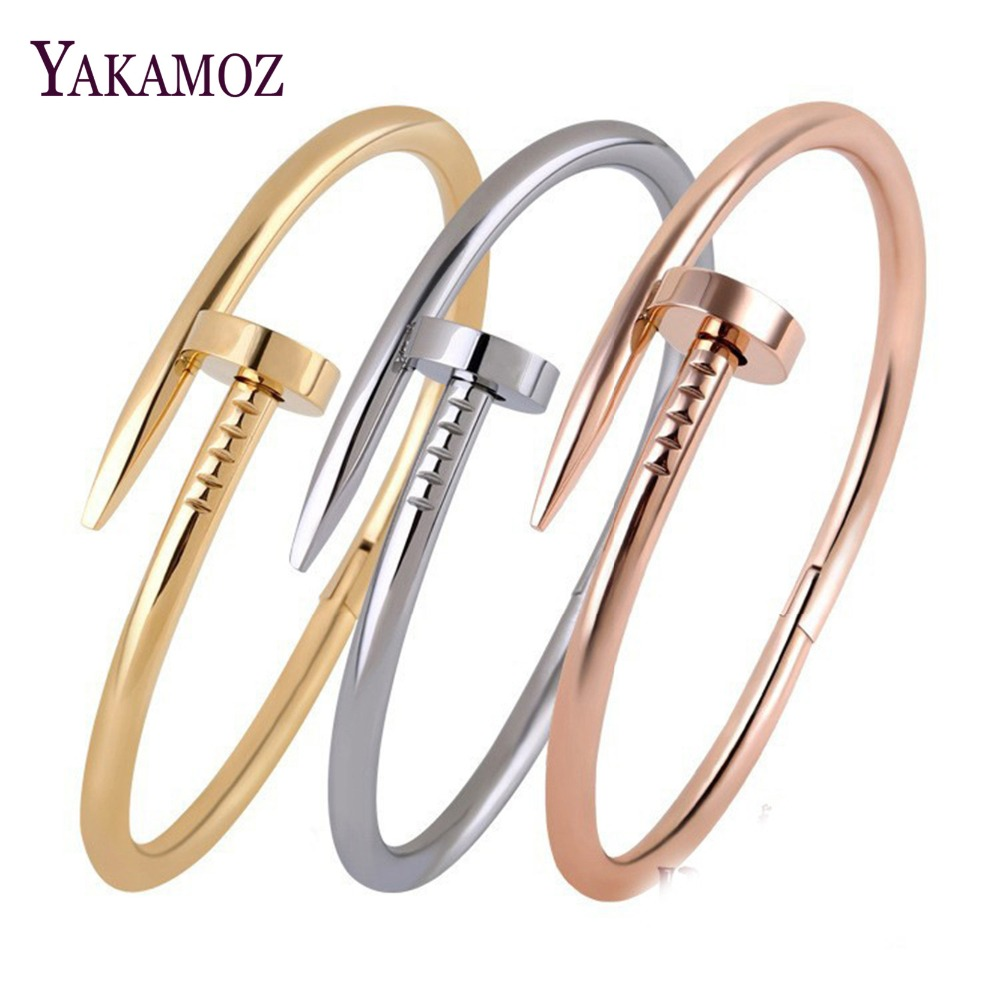 Fashion Women Bracelets & Bangles Summer Style Screw Open Bangles For Women Rhinestone Bracelets Fine Jewelry 2017