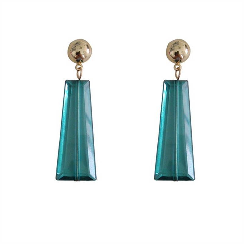 Acrylic transparent fashion geometry Exquisite stud earrings female