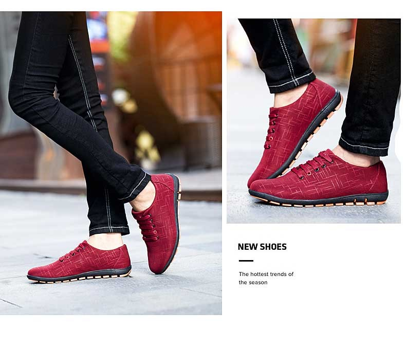 Мужская обувь Для мужчин; повседневная обувь дышащая обувь на шнуровке темно-синие красный парусиновая обувь на плоской подошве Для мужчин ...