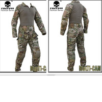 Kampf armee uniform EMERSON bdu tactical hemd & hosen mit knie pad & ellbogenschützer multicam EM2711