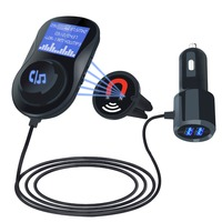 FM Transmitter Bluetooth FM Modulator 2 Port Quick Charge 3.0 Charger Handsfree Car Kit 1.44'' MP3 Player Drop Shipping
