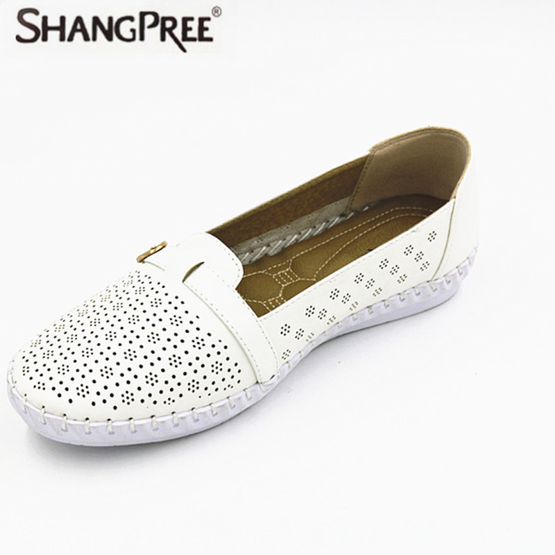 Plus Size 36-41 Women flatsshoes Mother Summer Loafers Soft Leisure Flats Female Driving Casual Footwear Soft And Breathable