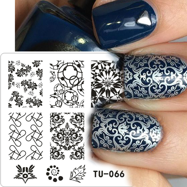 New Stamping Nail Art Kit Geometry Desgisn Template Image Plate 6cm