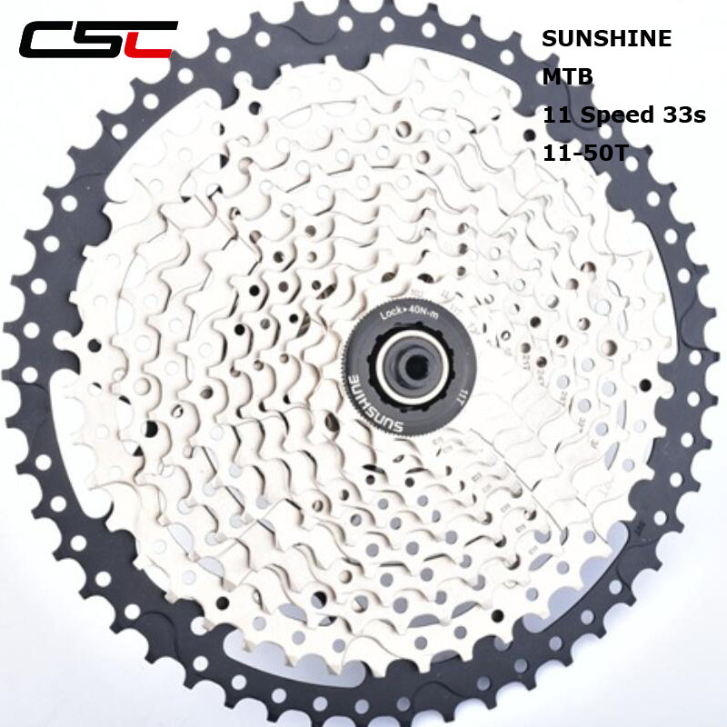 CSC 11-50T 33s Wide Ratio bicycle MTB freewheel sprockets 11 speed cassette mountain bike flywheel 50T Cog ampeg pf 50t