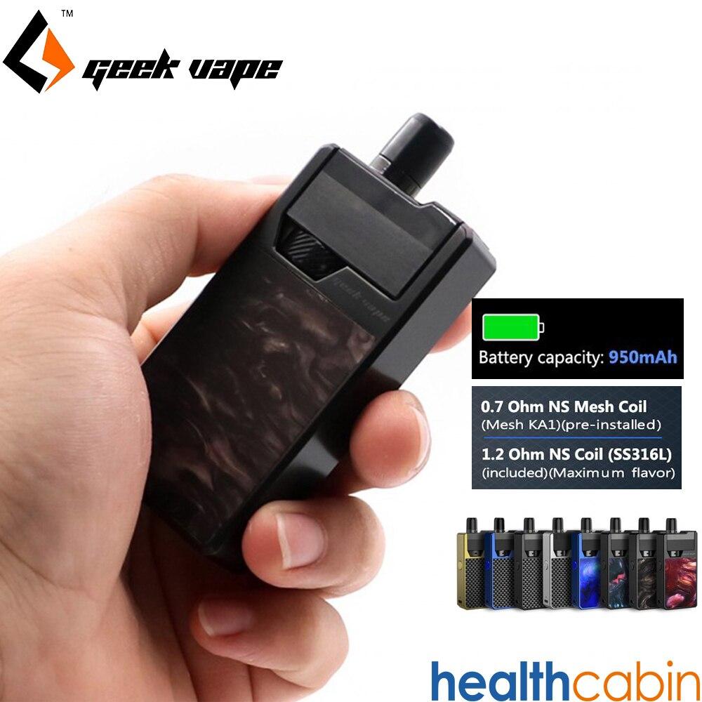 Geekvape Frenzy Pod Kit 2 ml 950 mah batterie intégrée NS maille SS316L bobine Cigarette électronique Vape Kit vs Orion DNA Aspire AVP