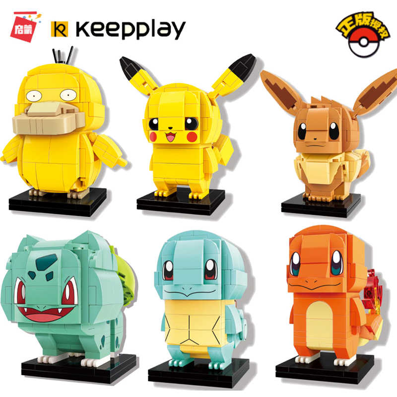 Pikachu DC Brickheadz Dragon Ball Z cegła Headz klocki Marvel Batman Spiderman loki joker Action Figures zabawki