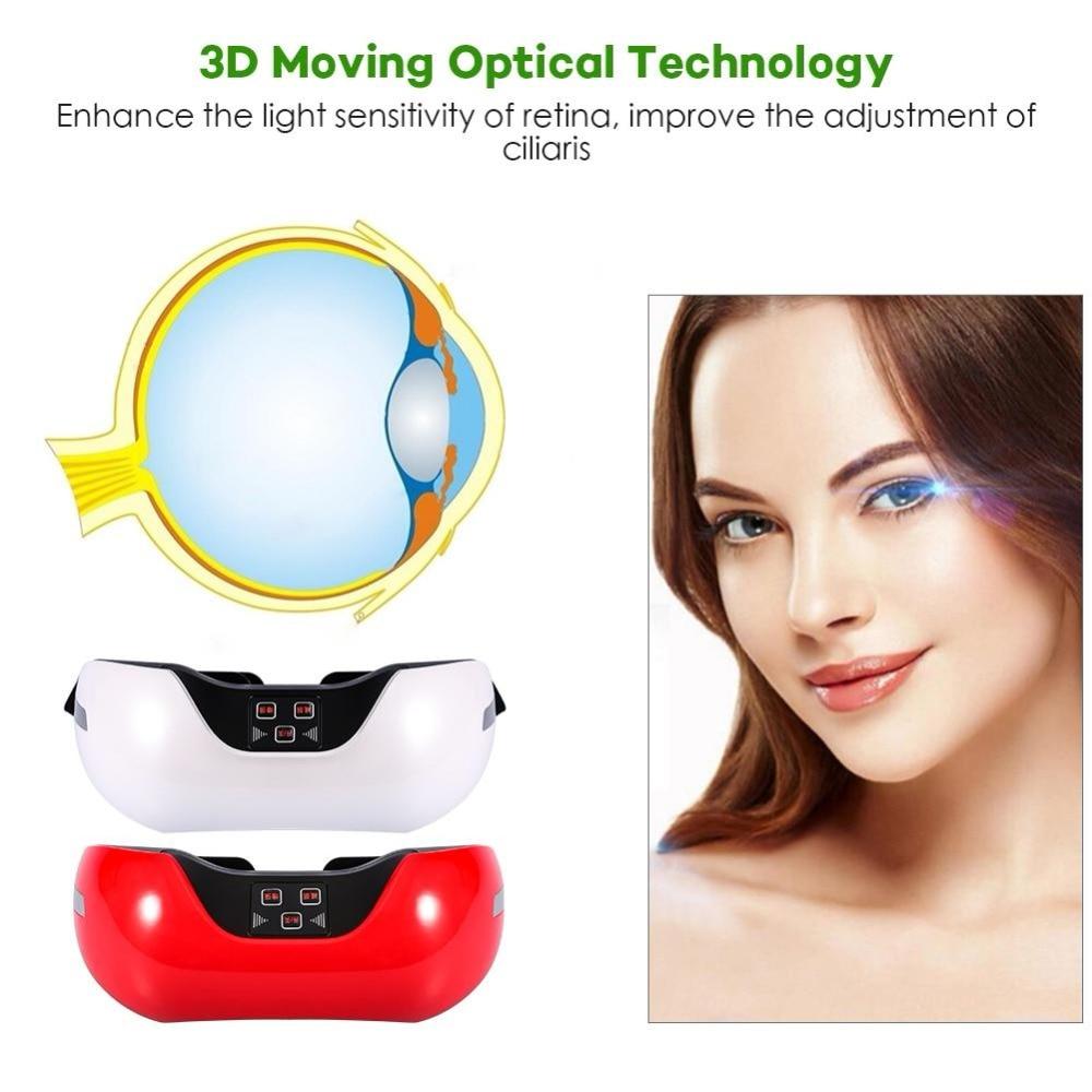 Outils de soin des yeux USB Rechargeable 3D électrique vert lumière masseur des yeux Fatigue tête traitement de soulagement du Stress
