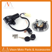 Street Bike Ignition Switch Fuel Gas Cap Seat Lock Key Set For YAMAHA YZF R6 2003 2004 2005 2003 2005 Motorcycle