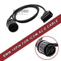 10pinへ16pin obd2 obdii診断ケーブル用bmw 1.5メートルicom dケーブルオートバイmotobikes 10ピンAdaptor-1.5m長い