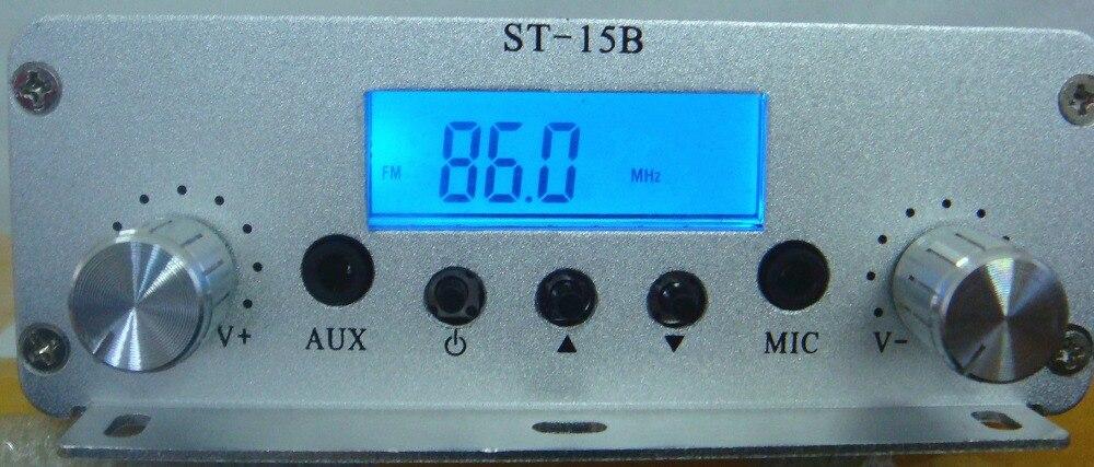 Émetteur de diffusion FM 15 W 76 MHz-108 MHz ST-15B station de radio fm stéréo PLL ST-15Bv3