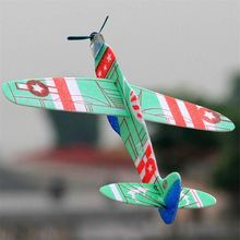 1pc Interesting Toys Foam Airplane Epp Foam Hand Throw Airplane Outdoor Launch Glider Plane Kids Gift Toy(China)