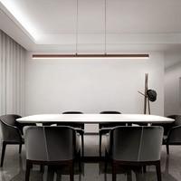 800/100/1200mm Length Modern Led Chandelier For Dining Room office Bar Kitchen Room Coffee/White Color Chandelier 90 260V