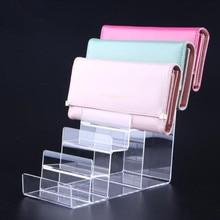 Six-layers Acrylic Wallet Display Stand Purse Holder high quality phone cosmetics jewelry shelf Nail polish display rack цены