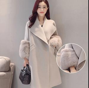 4c0bf31087f Clobee 2018 Women s female jackets Ladies Woolen Coat