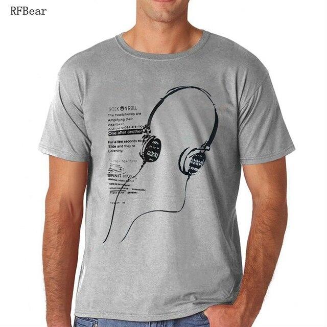 RFBEAR марка 2017 новая мода лето футболка мужчины о-образным вырезом хлопок комфортно футболка Повседневная футболка homme Короткий рукав clothing 5XL