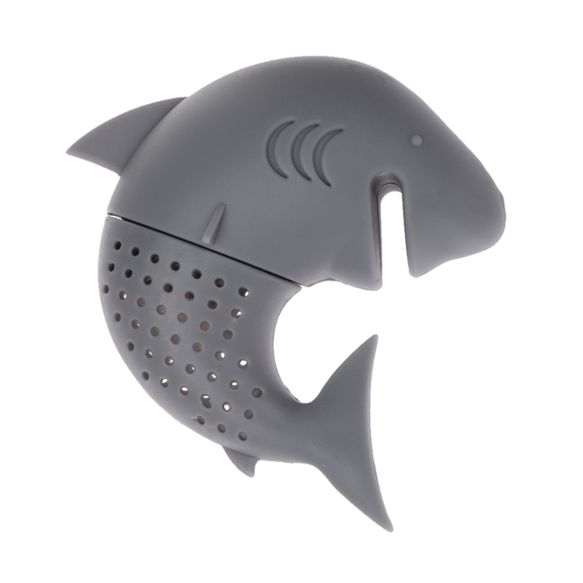 Tea Infuser American Shark Shape Silicone Strainers