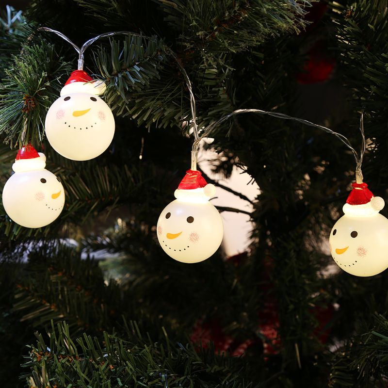 1.5m 3m Snowman Led Fairy String Lights Santa Led Christmas Light Home Garden Indoor Party Wedding Christmas Decoration Light