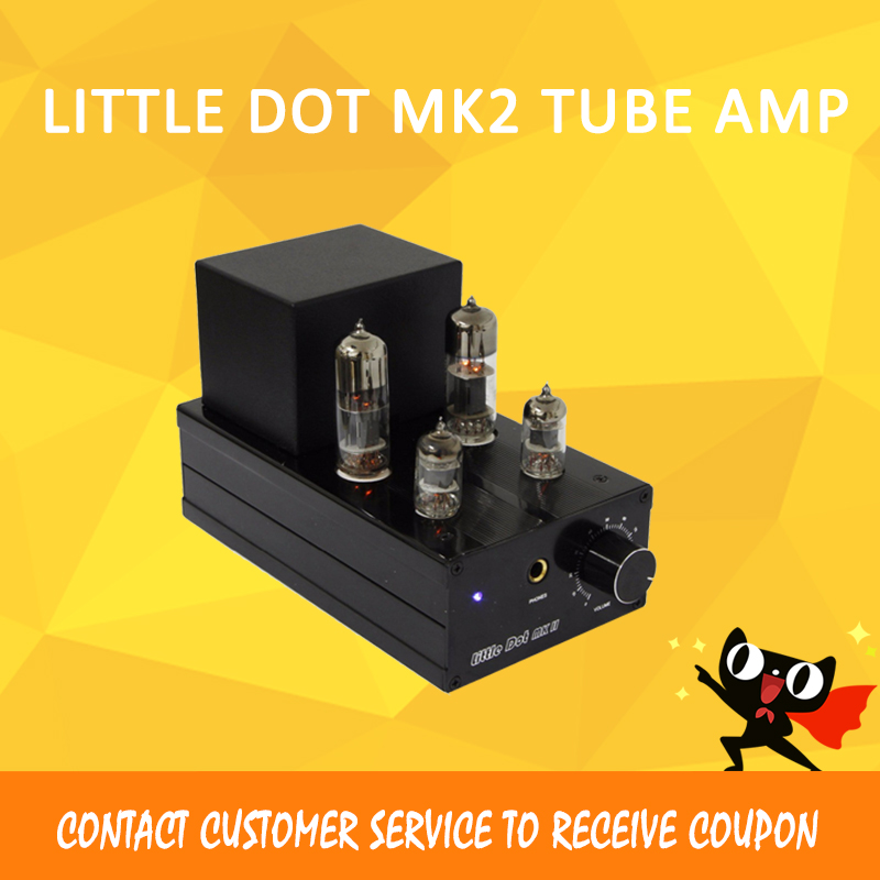 Little Dot MK2 headphone amplifier 6J1 tube dac amplifier lossless volume control preamplifier Power amp 6j1 tube fever preamplifier amplifier power amplifier bluetooth amplifier diy kit 6j2 finished machine