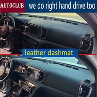 For Kia Sportage QL 2016 2017 2018 2019 Leather Dashmat Dashboard Cover Car Dash Mat SunShade Carpet pads accessories Styling