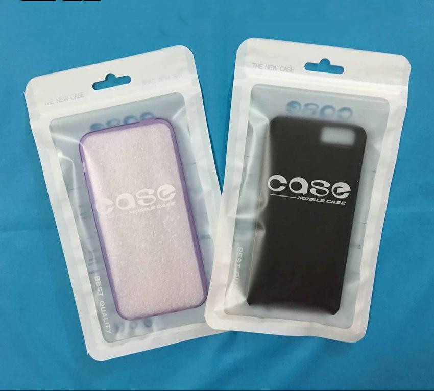 12 21 cm 500 pcs Bright glossy or Matte frosted Packaging Plastic zipper Bags Phone Accessories