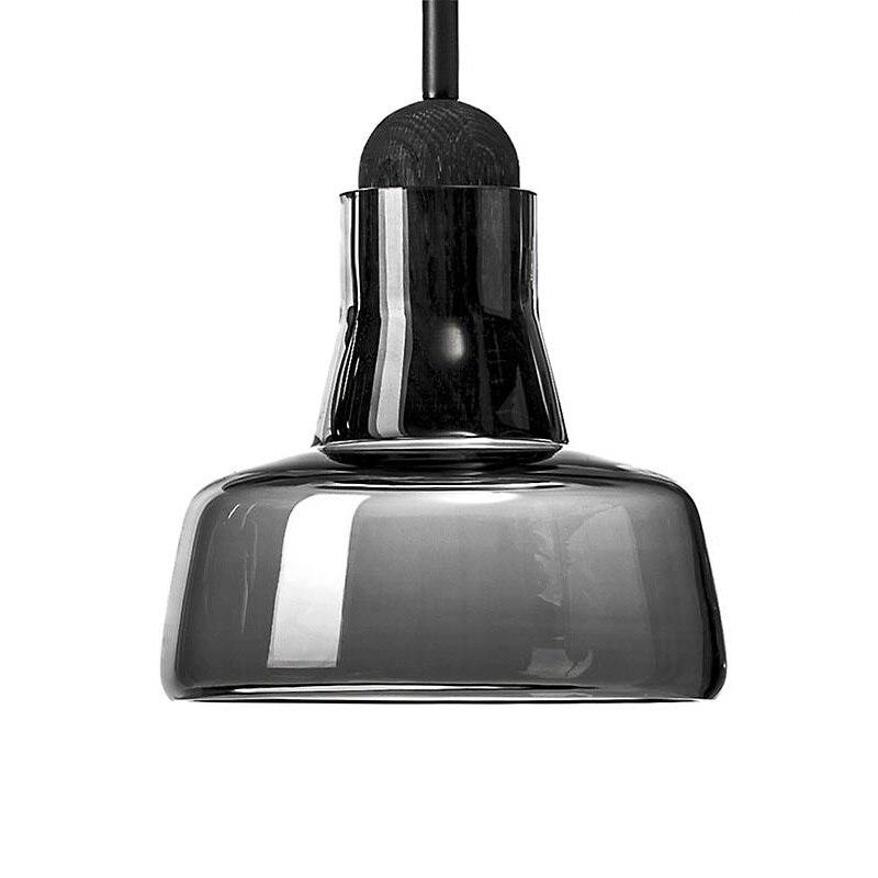 shadow kleine hanglampen grijze rook glazen hanglamp voor