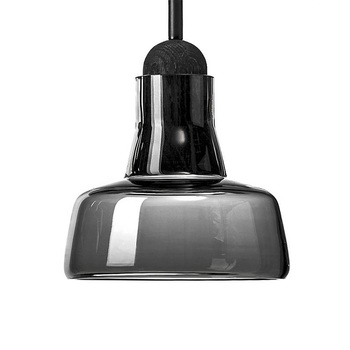 Shadow Small Pendant Lights Gray Smoke Glass Pendant Lamp For Bedroom Dinning Room Bar Suspension Droplight  Fixtures PL51