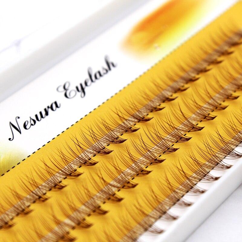 Для женщин мягкая 6D волна отдельных ресницы коричневый Цвет шелковые Поддельные ресницы расширение норки ресницы натуральные Накладные ре...