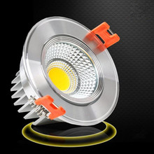 Cheapest 1PCS 9W LED COB Ceiling Light Cool White/Warm White Silver shell/White shell Down free shipping