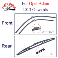 Group Silicone Rubber Front And Rear Wiper Blades For Opel Adam 2013 Onwards Windscreen Wipers Car